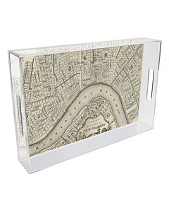 TRAY LUCITE NOLA MAP RIVERBAND 8.5X11