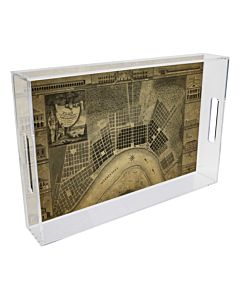 TRAY LUCITE PLAN DE NEW ORLEANS 8.5X11