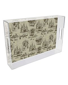 TRAY LUCITE TOILE CAFE 11X17